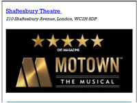 Motown the musical theatre tickets London x 2