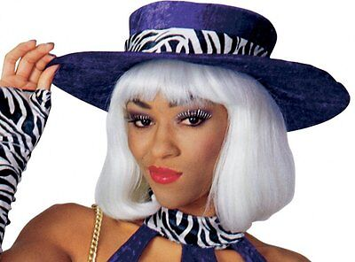 Mrs. Jones Hat Pimp Ho Purple Zebra Adult Halloween Costume Accessory