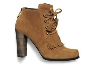 PEGABO Brown Suede Booties - Size 8
