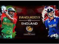 ICC Champions trophy 2017- England vs Bangladesh 2 adults and 2 childrens for GOLD Cat The Oval