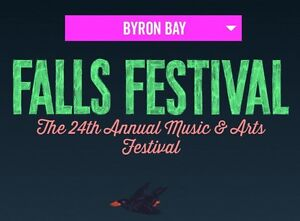 2 X  BYRON BAY 3 DAY FALLS FESTIVAL TICKET + CAMPING BYRON BAY Karalee Ipswich City Preview