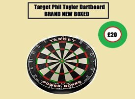 Target Phil Taylor Dartboard BRAND NEW BOXED