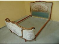 Vintage Louis French Style Double Bed With Slates