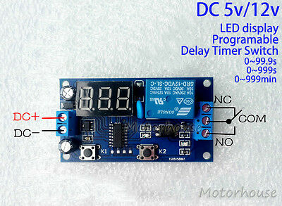 Dc 5v 12v Adjustable Delay Timer Relay Switch Time Relay Module Programmable Car
