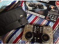Hercules 4-MX Professional DJ Controller, Disco, DJ, Decks, Turntables, Mixer, mp3