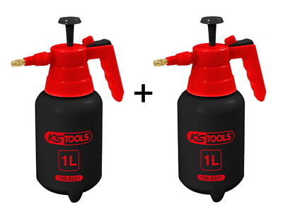KS Tools 2x Druckzerstäuber 1l Pumpflasche Druckpump Sprühflasche 150.8251