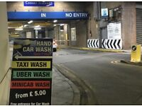 Hand car wash for sale in Canary Wharf car wash taxi