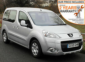 2010(59) PEUGEOT NEW PARTNER 1.6 HDi S TEPEE WHEELCHAIR ACCESSIBLE VEHICLE