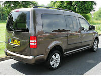 2013(62) VOLKSWAGEN CADDY 1.6 TDi MAXI LIFE WHEELCHAIR ACCESSIBLE VEHICLE