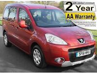 2012(61) PEUGEOT PARTNER 1.6 EHDi S TEPEE AUTO LOW FLOOR WHEELCHAIR ACCESSIBLE