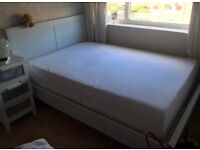 Large double bed frame and Memory foam mattress