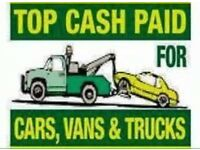 cars vans jeeps 4x4s runners non runners wanted today scrap Cars Wanted scrap my car sell my car