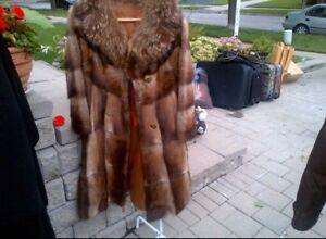 Fur Coat $200 Size Small