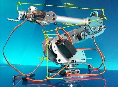 6dof Mechanical Arm Robot Clawservo For Robotics Arduino Diy Kit Unassembled