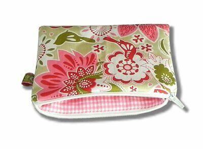 Olive Vögel (Schminktasche Krimskrams Tasche Vögel Blumen Rosa Oliv Handmade ♥ Neu ♥ Dawanda)
