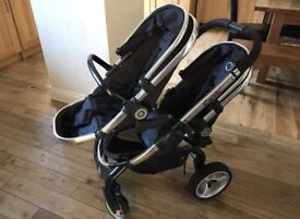Icandy peach 2 double buggy pushchair twins