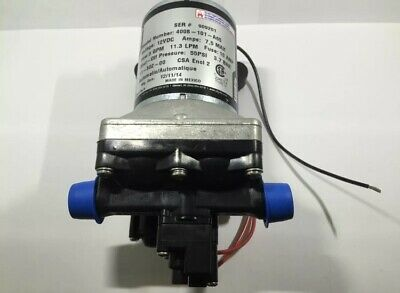New Shurflo RV/Camper & Marine 12V Fresh Water Pump 3.0 GPM # 4008-101-E65 -