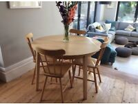 Ikea table and 6 chair set (extendable)
