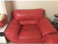 3 RED SOFA FOR SALE