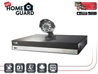 HomeGuard CCTV Security Monitoring Kit 4Channel 1 Cameras In/Outdoor Remote Access