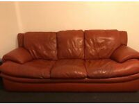 Leather sofas good condition