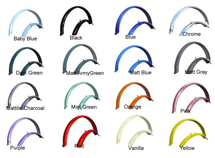 """26"""" Beach Cruiser Bike Bicycle Firmstrong Fender set Pick Up 16 Colors"""