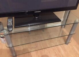Glass television stand for sale