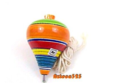 MexIcan Classic Wooden Spininng Trompo / Trompo de Madera - Wooden Spinning Tops