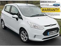 2015(64) FORD B-MAX 1.0T ECOBOOST ZETEC 5DR MPV ~ AIRCON ~ LOWEST UK PRICE