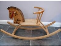 Lovely wooden child's rocking horse chair