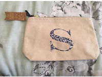 BRAND NEW WITH TAGS 'S' MONOGRAM COSMETIC PURSE