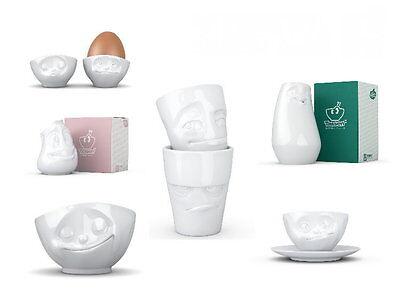 FIFTYEIGHT Lustige Gesichter Tasse Kanne Schale Eierbecher Vase Henkeltasse Dose