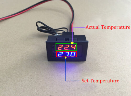 Digital LED Microcomputer Thermostat Controller Switch Temperature Sensor