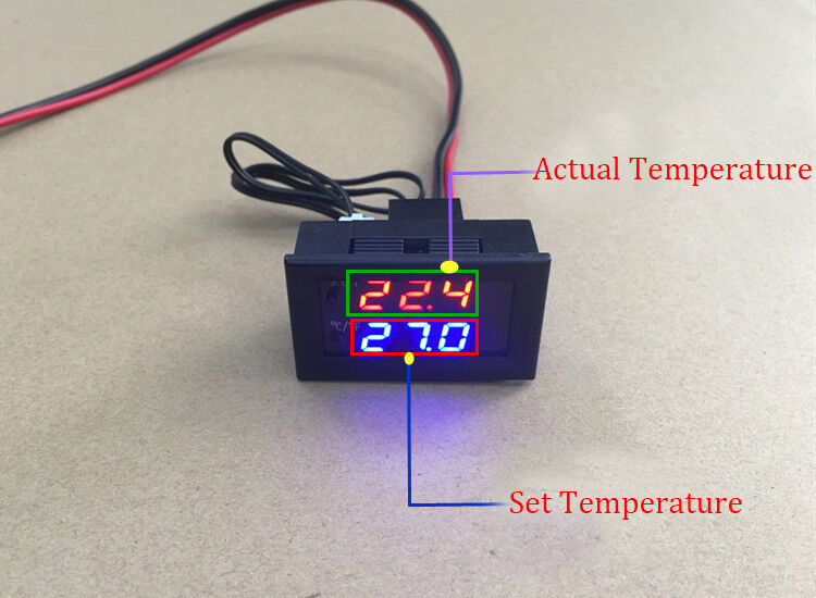 Digital LED Microcomputer Thermostat Controller Switch Tempe