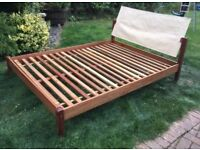 Lovely hardwood double size Habitat bed frame, very good condition