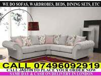 Chesterfield Sofa Available in Corner Sofa or 3+2+1 Seater Fabric Sofas