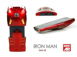 Iron-Man-Mark-VII-Collectible-Toy-Case-For-iPhone-4-4S-Avengers-LED-Armor-NCW06