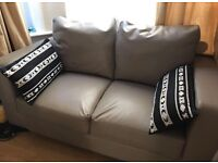 Two seater sofa (taupe)