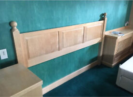 Bed headboard and bedside table