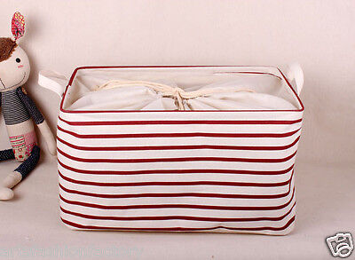 Collapsible Linen Storage Bucket Laundry Basket box w Totes
