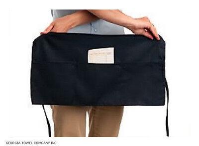 6pc black waiter/ waitress server 3 pocket waist apron best deal