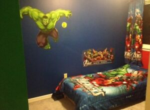 Avengers twin comforter / curtain / decor set