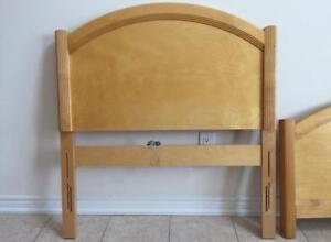 Solid hard wood - twin sized bed