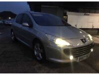 Peugeot 307 1.6 hdi top of the range and top spec leather seats sport model low tax and insurance