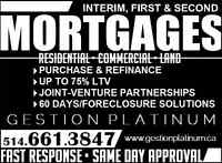 First & Second Mortgage • NO CREDIT, NO PROBLEM • (514) 661-3847