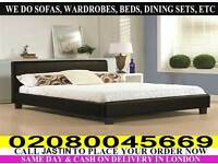 SINGLE , KINGSIZE , SMALL DOUBLE , DOUBLE LEATHER BASE WITH MATTRESS / Bed Set