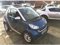 SMART FORTWO 71 PASSION AUTOMATIC CONVERTIBLE 2009 MODEL WITH POWER ROOF & 50+ MPG 47k MILES
