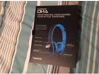 Monster DNA Headband Headphones Lazer Blue