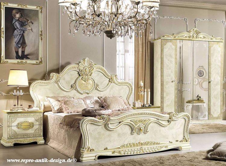 Hochglanz bett und 2 x nachttisch stilm bel aus italien luxus klassisch barock eur - Stilmobel italien ...