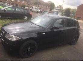 Black 1 series BMW 116i se MOT